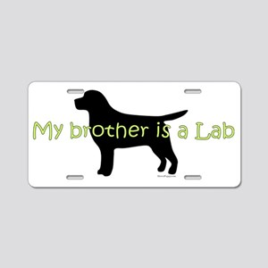 Lab_Brother Aluminum License Plate
