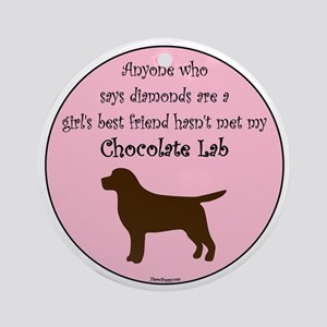 GBF_Lab_Chocolate Round Ornament