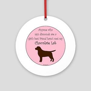 GBF_Lab_Chocolate Round Ornament