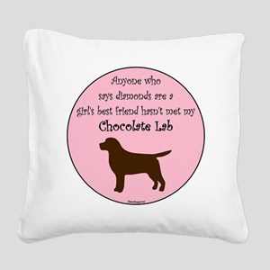 GBF_Lab_Chocolate Square Canvas Pillow