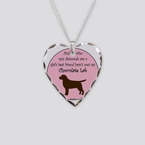 GBF_Lab_Chocolate Necklace Heart Charm