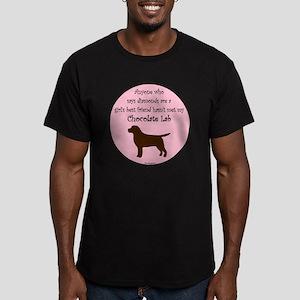 GBF_Lab_Chocolate Men's Fitted T-Shirt (dark)