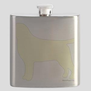 YellowLabSilhouette Flask