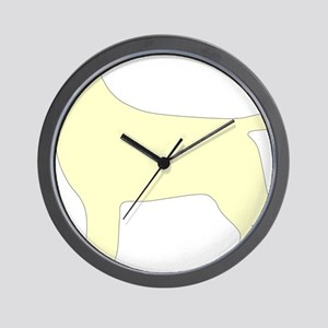 YellowLabSilhouette Wall Clock
