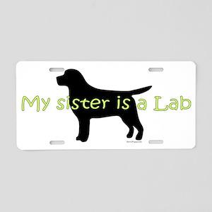 Lab_Sister Aluminum License Plate