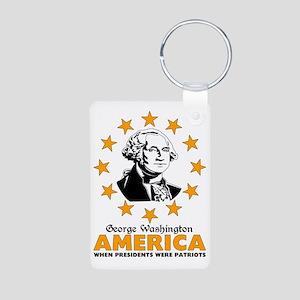 George Washington Aluminum Photo Keychain