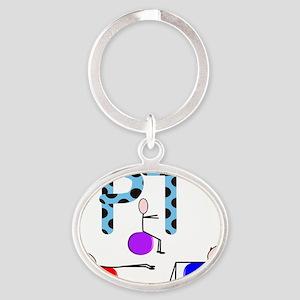 PT 3 Stickman Oval Keychain
