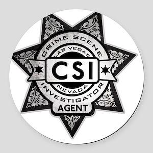 Badge.CSI.Fake Round Car Magnet