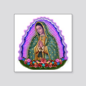 """Lady of Guadalupe T4 Square Sticker 3"""" x 3"""""""