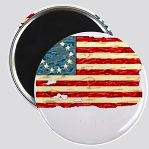 NF Old Glory-white Magnet