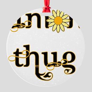 Daisy thug Round Ornament