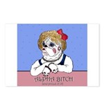 Bulldog Alpha Bitch Postcards (Package of 8)