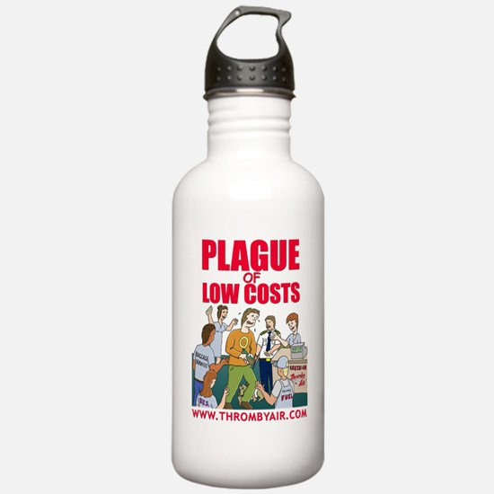 thromby-plague-T-white Water Bottle