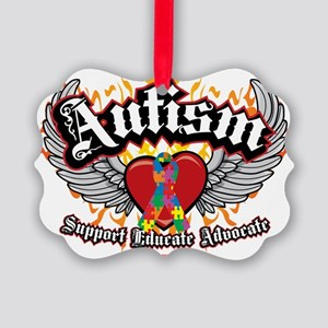 Autism-Wings Picture Ornament