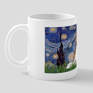 LIC-Starry Night - Cavalier-Blenheim Pu Mug