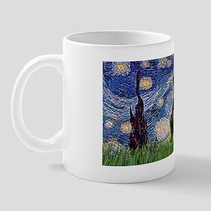 LIC-Starry Night - Pug (black) Mug