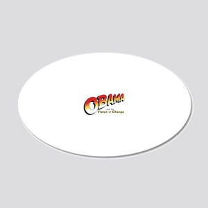 Obama-Jones 20x12 Oval Wall Decal