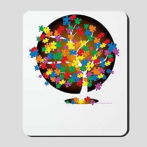 Autism-Tree-blk Mousepad