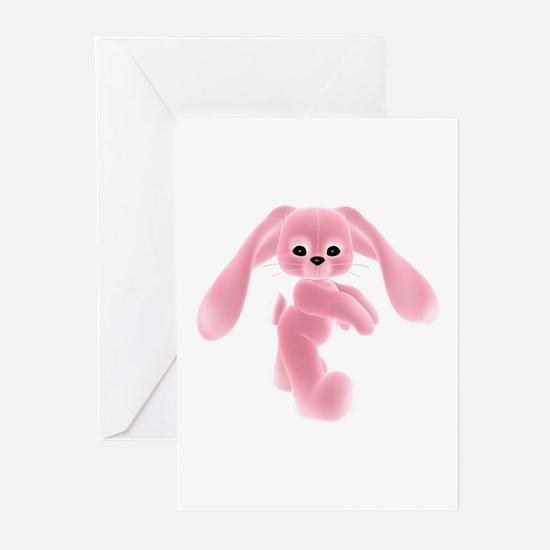 Pink Bunny - Baby Steps Greeting Cards (Package of