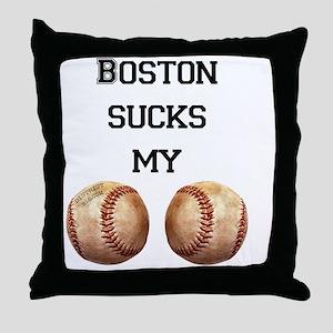 boston_sucks_my_balls_1 Throw Pillow