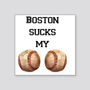 "boston_sucks_my_balls_1 Square Sticker 3"" x 3"""