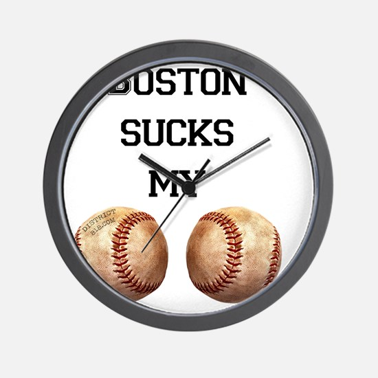 boston_sucks_my_balls_1 Wall Clock