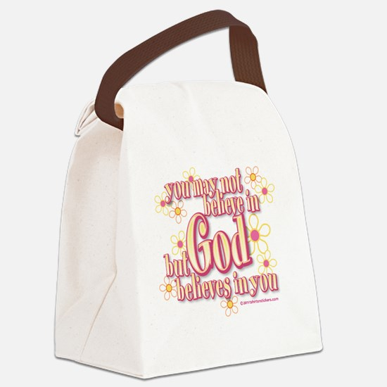 believe_in_god_t Canvas Lunch Bag