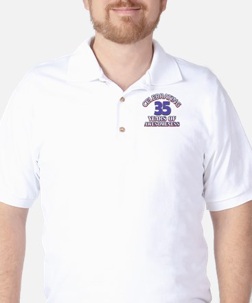 Awesome at 35 birthday designs Golf Shirt