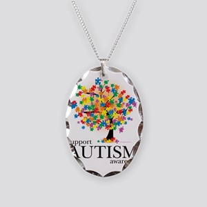 Autism-Tree Necklace Oval Charm