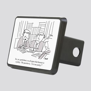Honesty_Policy Rectangular Hitch Cover