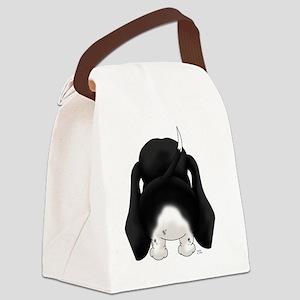BlackDoxieShirtBack Canvas Lunch Bag