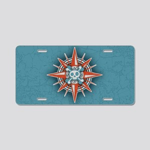 compass-3-OV Aluminum License Plate