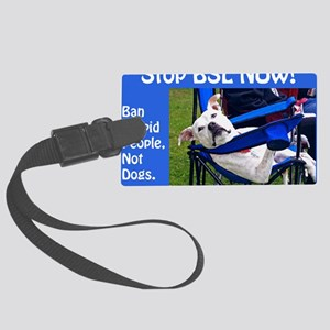 Norma Jean in Chair (blue) Large Luggage Tag