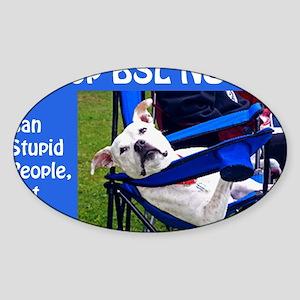 Norma Jean in Chair (blue) Sticker (Oval)