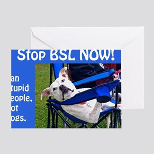 Norma Jean in Chair (blue) Greeting Card