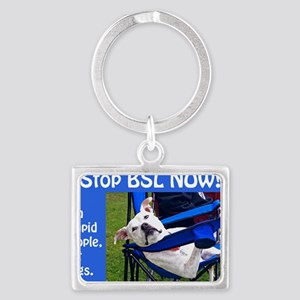 Norma Jean in Chair (blue) Landscape Keychain