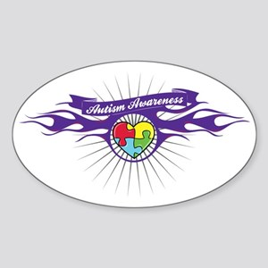 autism-aware-1 Sticker (Oval)