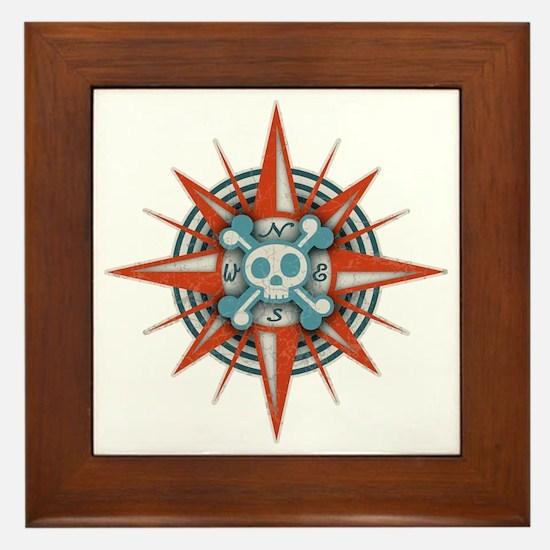 compass-3-T Framed Tile