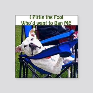 """Norma Jean Pittie the Fool Square Sticker 3"""" x 3"""""""