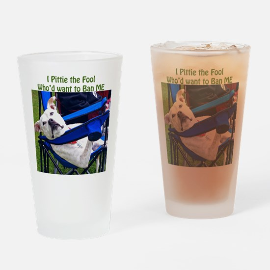 Norma Jean Pittie the Fool Drinking Glass