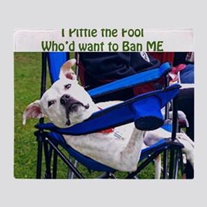 Norma Jean Pittie the Fool Throw Blanket