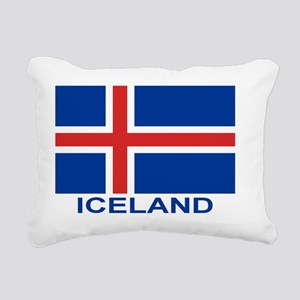 iceland-flag-labeled Rectangular Canvas Pillow