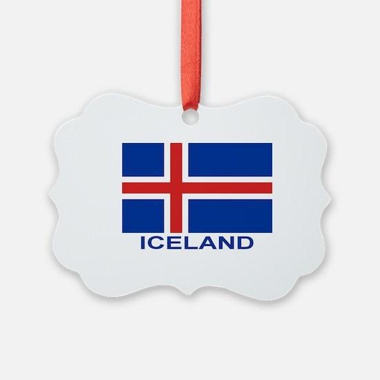 iceland-flag-labeled Ornament
