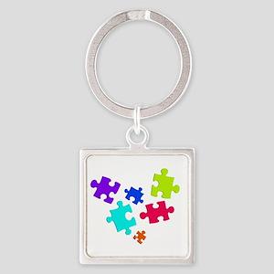 autistic_12 Square Keychain