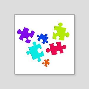 """autistic_12 Square Sticker 3"""" x 3"""""""