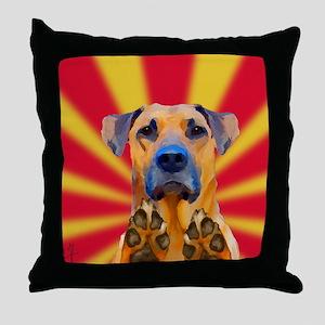 Bond Dog Throw Pillow