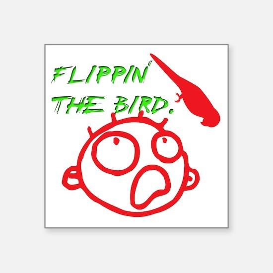 "BIRD Square Sticker 3"" x 3"""