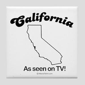 California - as seen on tv Tile Coaster