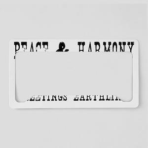 peace copy License Plate Holder