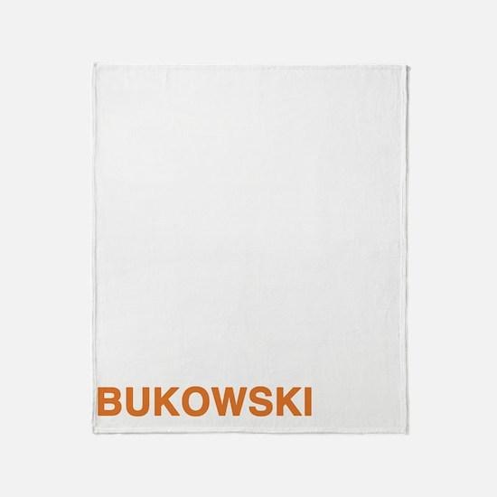 bukowski1_orange Throw Blanket